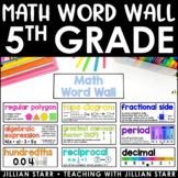Math Word Wall- Grade 5 (Common Core Aligned)