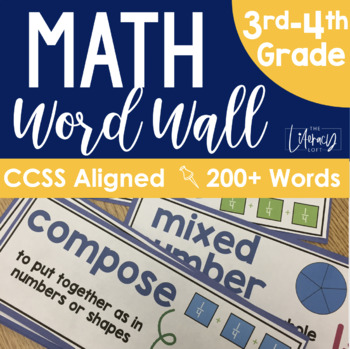 Math Word Wall Grades 3-4 {Common Core Aligned}