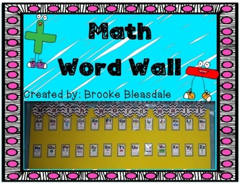 Math Word Wall Headers