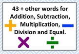 Math Word Wall - Other words for....