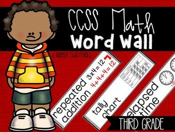 Math Word Wall {Third Grade}, CCSS Aligned