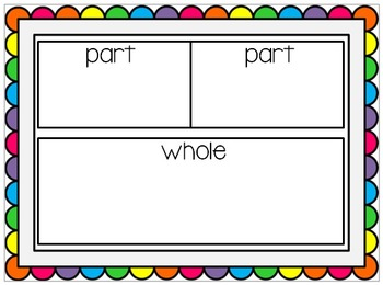 Math Work Mats~ Combining or Decomposing Numbers - Part Pa