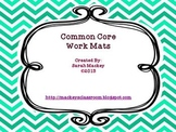 Math Work Mats for the Common Core
