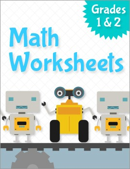 Math Workbook / Worksheets Grades 1 & 2