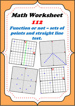 Math Worksheet 0112 - Functions: Sets of points and vertic