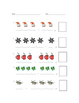 Math Worksheet : Focus on Addition with a Winter Theme