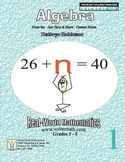 Algebra Practice Worksheets - Common Core Math - 30 Weeks