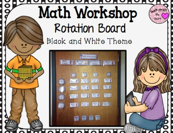 Math Workshop (Black and White Theme)