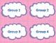 Math Workshop Bulletin Board - Pink Dots