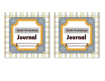 Math Workshop Journal Cover