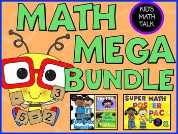 {Math Workshop} Kid's Math Talk MEGA MATH BUNDLE-Bookmarks