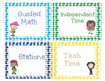 Math Workshop Labels:  Rockin' It!