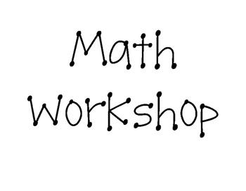 Math Workshop Printables