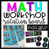 Math Workshop Rotation Board {EDITABLE}