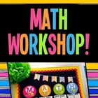 Math Workshop Rotations Board - Bright Neon Colors!  NOW EDITABLE