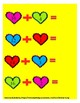 Math Workshop Valentine Addition teen #'s File Folder Game
