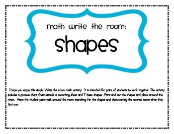 Math Write the Room Shapes