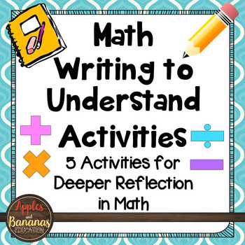 Math Writing to Understand Activities