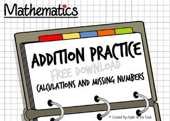 Math Calculations... Written Addition Method Practice + Mi
