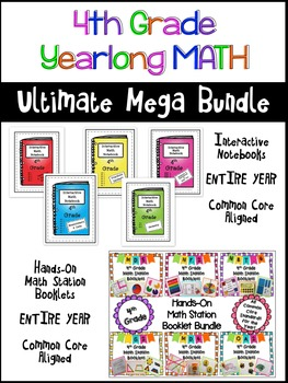 Math - Interactive Notebooks and Math Station Booklets Bun