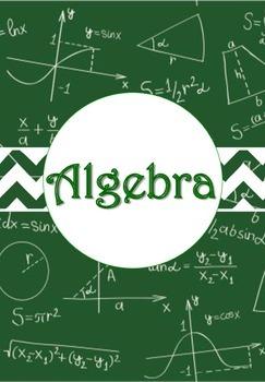 Math and Algebra Binder Cover