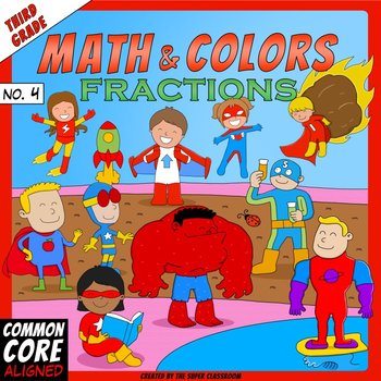Math and Colors – 004 – Fractions - 3rd grade - Common Cor