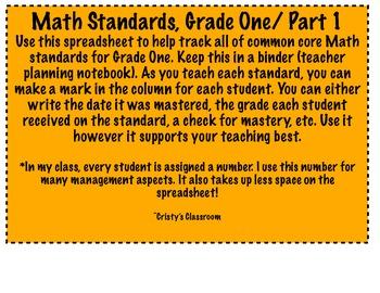 Math and ELA Common Core Standards Bundle!
