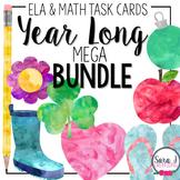 Math and ELA Task Card Mega Bundle