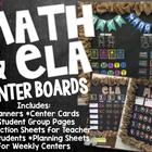Math and ELA (Centers) Rotation Board