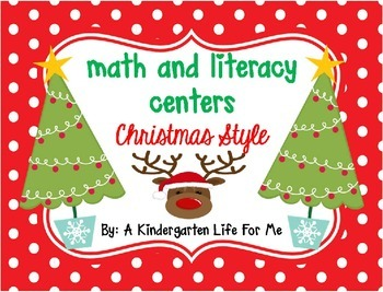 Math and Literacy Centers Christmas Style