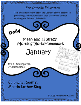 Math and Literacy Morning Work (January)