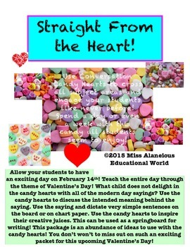 Math and Literacy Valentine's Month Problem Solving and Wr