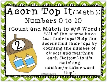 Math and Literacy Center {Number Puzzle}