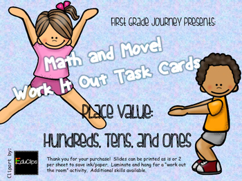 Math and Move! Exercise Task Cards Around the Room {Pl Val