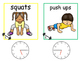 Math and Move! Exercise Task Cards Around the Room {Time t
