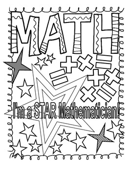 Math and Reading Doodle Coloring Pages