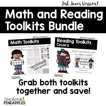 Math & Reading Toolkit Labels Bundle: Ink Saver Version!