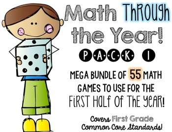Math (centers) Through the Year!  Pack 1, first half of th