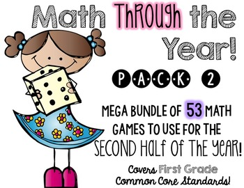 Math (centers) Through the Year!  Pack 2, second half of t
