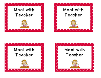 Math centers rotation cards
