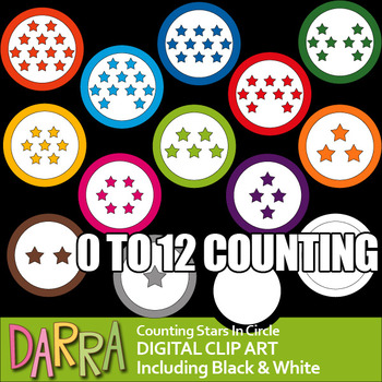 Math clip art counting pictures - Stars inside a circle (r