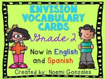 Math enVision Vocab Cards Grade 2