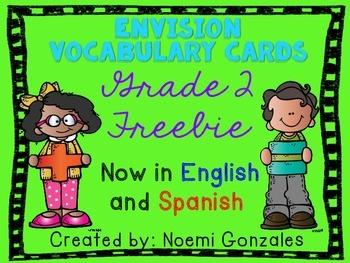 Math enVision Vocab Cards Grade 2 FREEBIE