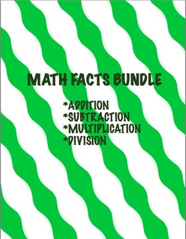 Math fact mastery bundle