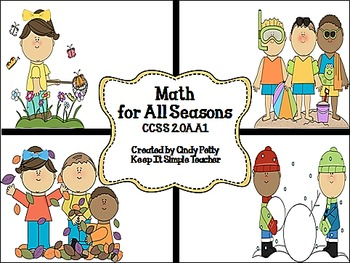 Math for All Seasons: Real World Word Problems for CCSS 2.OA.1
