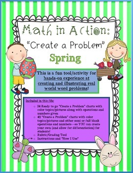 """Math in Action: SPRING """"Create a Problem"""" Ready-to-Go Word"""