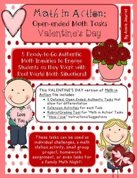 Valentine's Day Open-Ended Math Ready to Go Tasks No PREP