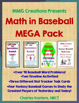 Math in Baseball MEGA Combo Pack--Sportstistics: I & II, F