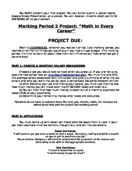 Math in Every Career Project