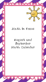 Math in Focus: Every Day Counts Calendar Math for August/S